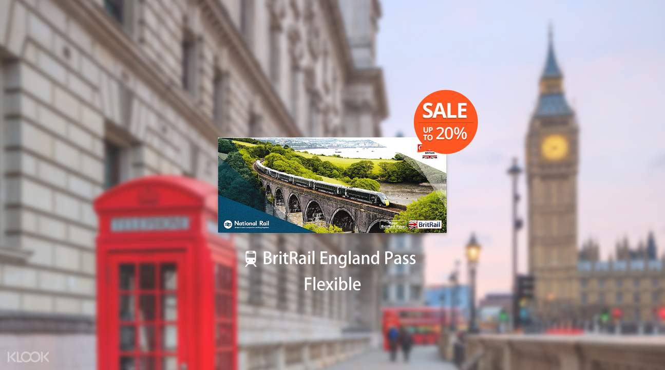 [Sale] BritRail England Pass (Flexible 3, 4, 8 or 15 Days)